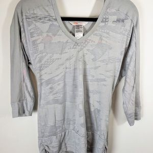 North Face Burnout Hoodie Small Gray Thin